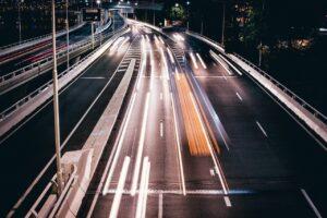highway, traffic, long exposure