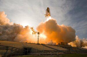 space shuttle, rocket, lift-off